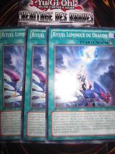 YU-GI-OH! YUGIOH LVAL-FR062 RITUEL LUMINEUX DU DRAGON PLAYSET (3 CARTES) ED1
