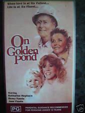 ON GOLDEN POND ~ JANE & HENRY FONDA & KATHERINE HEPBURN ~ B N & S VHS VIDEO