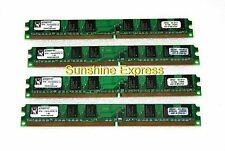 4GB 4x1GB 240-Pin PC2-6400 DDR2-800 Kingston KTH-XW4400C6/1G Low Profile SDRAM