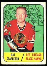 1967 68 TOPPS HOCKEY #61 PAT STAPLETON VG-EX CHICAGO BLACK HAWKS CARD