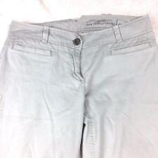 New York & Company Women's Dress Pants 2 Khaki Chino Low Rise Career Slacks A122