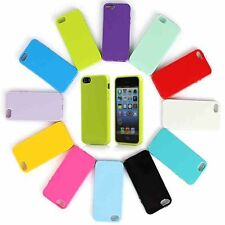 Silicone Gel Candy Glossy Case Cover For Apple iPhone 4 & 4S + Screen Protector