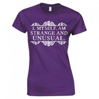 "Beetlejuice ""I, Myself, Am Strange And Unusual"" Ladies Skinny Fit T-Shirt"
