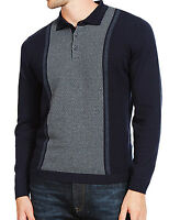 MENS EX M&S TAILORED FIT CENTRE PLACEMENT KNITTED POLO SHIRT JUMPER TOP