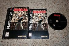 Resident Evil (Sony PlayStation 1, 1996) Complete Long Box ps1