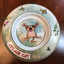 Gary Patterson Clay Design Cat Rimmed Dish / Bowl