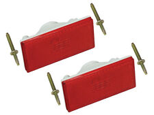 New 1970-77 Maverick Rear Side Marker Lamp Pair Red Galaxie Comet Ford