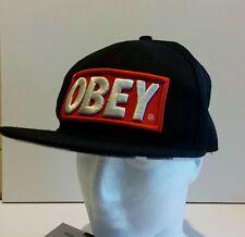 Obey Red Black Snapback