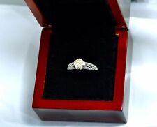 Not Enhanced Solitaire with Accents Fine Rings
