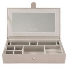 Genuine PANDORA Medium Stacking Jewellery Box AUSP20154 Tan