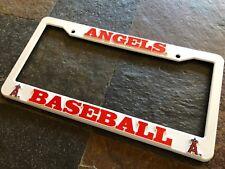 1 Los Angeles Angels White Plastic License Frame Nice Raised 3D Graphics LA