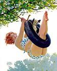 Print -  Duane Bryers' plump and pretty Hilda on a tire swing