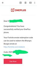 OFFICIAL OnePlus Fortnite Emote *Bhangra Boogie*, INSTANT DELIVERY