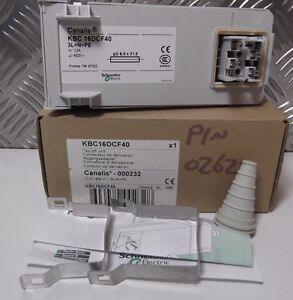 Schneider Canalis KBC-16DCF40 000232  busbar tap off unit 12A 3L+NN+PE 400V