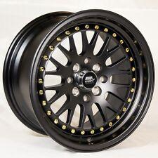 MST MT10 15x8 4x100/114.3 +25 Matte Black Rims Fit Integra Dc2 Mini Cooper S Jcw
