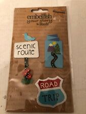 Embellish Your Story By Roeda - Set of 3 Scenic Route Road Trip Magnets - NEW!!