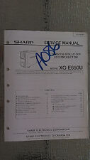 Sharp xg-e650u service manual original repair book lcd projector secam pal ntscs