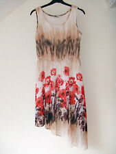 Gorgeous Cream & Red Floral Dress from George - Size 10 - BNWOT!!