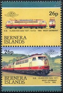 1965 DB Class E03 / 103.0 / BR103.0 Electric Germany Train Stamps (Bernera)