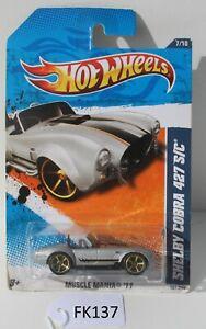Hot wheels Muscle Mania 2011 Shelby Cobra 427 S/C Grey 7/10 FNQHotwheels FK137