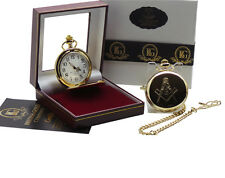 Freemason Masonic LUXURY FULL HUNTER POCKET WATCH  Gift Box CASE Any Lodge