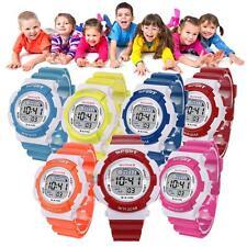Digital LED Waterproof Sports Wrist Watch Alarm Teen Kids School Boys Girls