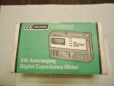 BK PRECISION DYNASCAN CORP. M/N 830 AUTORANGING DIGITAL CAPACITANCE METER