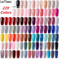 8ml LEMOOC 229 Couleur Pure Vernis à ongles Gel Polish Soak Off UV/LED Manucure