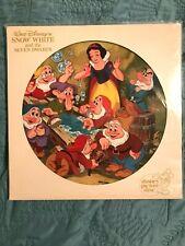 Walt Disney's Snow White Original Soundtrack Picture Disc Vintage #3101