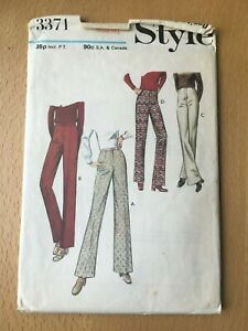 New Unused Vintage Style Sewing Pattern Misses Trousers Size 12