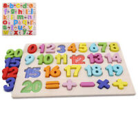 Alphabet ABC Learning Children Kids Toy Educational Puzzle Wooden Letter Jigsaw