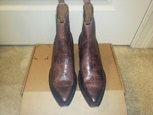 Frye Womens Sacha Chelsea Western Boots, BlackBerry Size 7.5