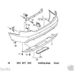 New Genuine AUDI A6 RS6 Rear Lower Bumper Holder 4F9807329