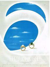 Publicité Advertising 1992 Bijoux Joaillerie BVLGARI BULGARI