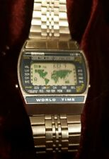 Seiko A239-5009 World Time Alarm LCD Vintage Watch
