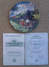 """""""THE GOLDEN AGE OF STEAM - THE FLYING SCOTSMAN"""" PLATE - BRADEX"""