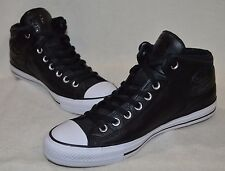 080815201a7d Converse Men s CT High Street Black Leather Mid-Top Sneakers - Asst Sizes  NWB