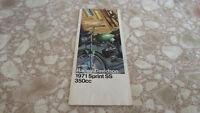 NOS OEM 1971 SPRINT SS350  AMF HARLEY DAVIDSON SALES BROCHURE HD-1010