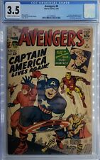 AVENGERS #4 CGC 3.5 First Silver Age Appearance Captain America Steve Rogers