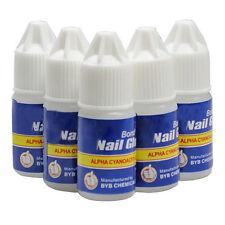 10× 3g  Nail Art Glue Strong Adhesive Clear Glue Acrylic False Tips DIY Set Pop