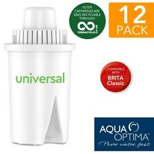 12 Aqua Optima Universal fit BRITA Classic Water Refill Replace Filter Cartridge