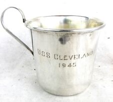 USS CLEVELAND STERLING SILVER CUP US NAVY WORLD WAR II *WW2* DATED 1945