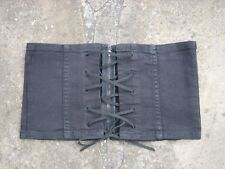 M/L - New Witchery Wide Charcoal Cotton Denim Corset Belt womens with zip & ties