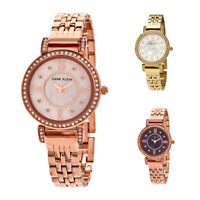 Anne Klein Blush MOP Crystal Dial Ladies Watch Set - Choose dial