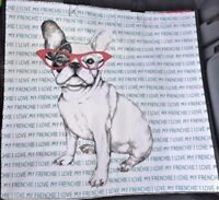"""I Love My Frenchie"" French Bulldog 100% Recyclable Reusable Shopping Tote Bag"