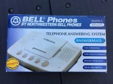 Bell Phones Telephone Answering System Machine AnswerMate #62256-1 WHITE