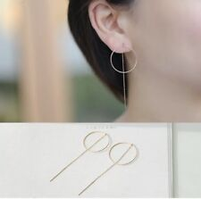 Ohrringe, Ohrhänger, Durchzieher, 925 Silber, silber/rosegold, Kreis, rund, NEU
