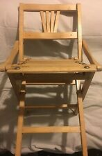 """Vintage Wood Folding Childs Chair circa 1920s 22"""" T"""