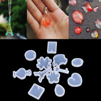 12Pcs/set Holes Key Waterdrop Silicon Mold Mould Resin Jewelry Making DIY BDAUyu
