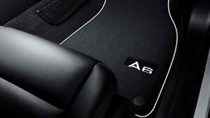 Original Audi A6 Fußmatten (4F), Premium Textilmatten aus Velours mit Schriftzug